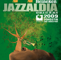 JAZZALDIA 09. A Design, Illustration, and Advertising project by Javier Moral - Aug 20 2009 05:38 PM