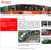portal Veolia Transporte España. A Design, Software Development, and UI / UX project by Elena Dalmau Castro - Oct 05 2009 01:00 PM