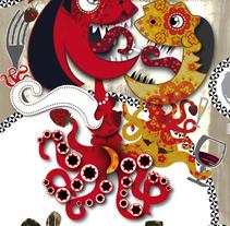 ilustracion para restaurante. Um projeto de Ilustração de Luis Gomariz         - 25.10.2009