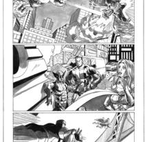 Xmen pagina 3. Un proyecto de Ilustración de Tomás Morón Aranda - Jueves, 12 de noviembre de 2009 15:49:29 +0100
