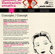 web Marie Claire IED Barcelona. A Design project by HORACIO HERRERA GARCIA         - 26.07.2010