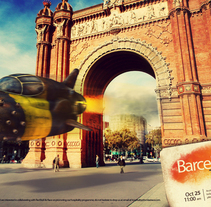 Barcelona Taxi Race. A Design, Illustration, Photograph, and 3D project by santosdelacalle@gmail.com         - 08.02.2010