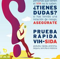Campaña VIH. Un proyecto de Diseño e Ilustración de Alejandro Sáez (TLM)         - 15.03.2010