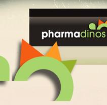pharmadinos logo y frontend. Un proyecto de Diseño y Publicidad de nathalie figueroa savidan         - 14.01.2011