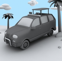 Cartoon van. A Illustration, and 3D project by Santiago Perez Lamas - 04-05-2010