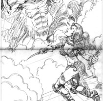 Red Sonja pinup. A Illustration project by Tomás Morón Aranda - Jun 03 2010 06:59 AM
