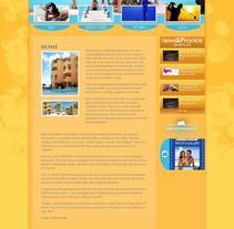 Diseño de Sitio Web Hotel Playa Azul, en Cozumel Q. Roo - México. A Design, and UI / UX project by Leydi Alejandra Marí Rivero         - 14.07.2010