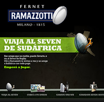 Fernet Ramazzotti - Viajá al seven de sudáfrica. A Design, Installations, Motion Graphics, Illustration, Film, Video, TV, Software Development, UI / UX, IT, Photograph, and Advertising project by Juan Francisco Amézaga - 09.07.2010