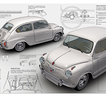 SEAT 600. A Illustration, and 3D project by Francisco  Castracane         - 26.10.2010