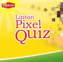 Lipton Pixel Quiz. A Design, Illustration, Advertising, and UI / UX project by Jesús Corrales - 26-12-2010