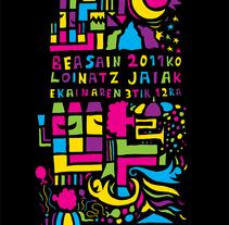 Cartel Loinatz Jaiak 2011 Beasain. Um projeto de  de Raul Piñeiro Alvarez         - 11.04.2011
