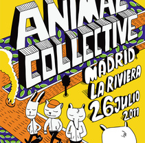 cartel animal collective Madrid. A Illustration project by Pablo ientile - Jul 01 2011 01:36 PM