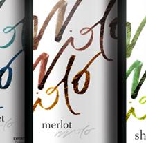 Calligraphic Wine Label. A Design project by Ronaldo da Cruz         - 06.07.2011