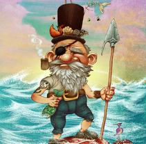 The Pirate. A Illustration project by Ariel Ferreyra         - 03.08.2011