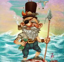The Pirate. Un proyecto de Ilustración de Ariel Ferreyra         - 03.08.2011