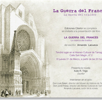Invitación libro publicado . Um projeto de Design de Eva Domingo Rojas         - 03.08.2011