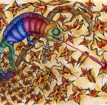 Trippy chameleon. Un proyecto de Ilustración de Penelope Moreno         - 07.08.2011