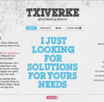 Nuevo Portfolio. A Design, Software Development, and UI / UX project by Xavi Vilà - Oct 20 2011 01:41 PM