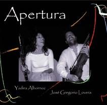 Diseño de la producción discográfica Apertura. A Design project by Claudia Tripputi - 01-11-2011