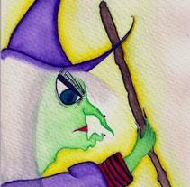 Ilustración | Cuento La Bruja Dora y su Escoba Voladora. A Illustration project by Natacha  Côrte-Real Duarte Pessanha         - 10.11.2011