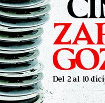Propuesta cartel Festival de cine de ZARAGOZA. Un proyecto de Diseño y Publicidad de Javier Melchor Cea - 10-11-2011