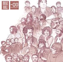 MusicHall · Ilustración/Christmas. Um projeto de Design e Ilustração de Tono G. Dueñas         - 17.12.2011