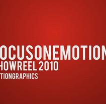 Reel de mis proyectos en FOCUSONEMOTIONS. Un proyecto de Diseño y Motion Graphics de Rubén Mir Sánchez         - 31.03.2012