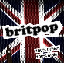 Cartel Britpop. Un proyecto de Diseño, Música y Audio de Quim Mirabet López         - 02.04.2012