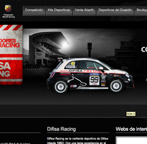 Difisa Racing Website. A Design, and UI / UX project by Rubén Mir Sánchez         - 07.04.2012