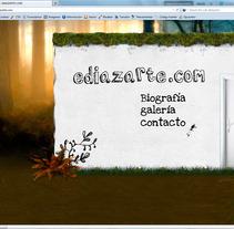Diseño web ediazarte.com. A Design&Illustration project by Alvaro Portela Martínez         - 12.04.2012