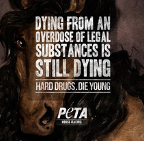 Peta Horses // Print campaign. A Illustration, and Advertising project by Andrea Aguilar Jiménez - May 04 2012 09:05 PM
