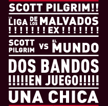 Cartel de cine | Scott Pilgrim. A  project by Placi Zamora         - 21.05.2012