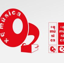 Identidad corporativa + q música. Un proyecto de Diseño e Ilustración de Pedro Luis Montero Somolinos - 18-06-2012