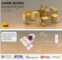 Tarjeta para exposición. Game Boxes . A Design&Illustration project by Josep  Estela          - 03.07.2012
