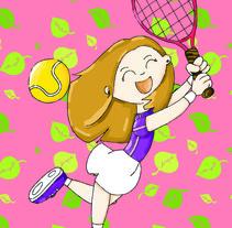 El tenis es también cosa de mujeres.. A Illustration project by pepasastre          - 05.07.2012
