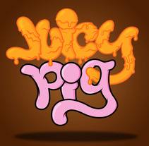 """Juicy Pig"" ilustración y tipografía. A Illustration project by José Luis Castillo         - 04.08.2012"