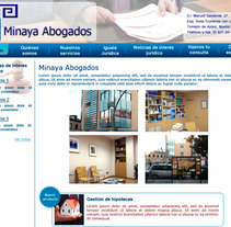 Abogados Minaya. A Design project by llucius         - 22.08.2012