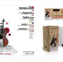 Claim para peluquería Pablo Domene Estilistas. Un proyecto de Diseño, Ilustración y Publicidad de Dámaris Muñoz Piqueras - 23-08-2012