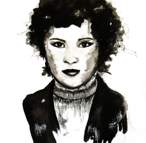 Retrato tinta china. Um projeto de Ilustração de raquel arriola caamaño         - 19.09.2012