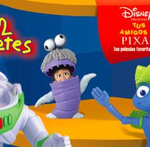 Diseño Stand Disney Pixar para McDonalds. A Design, and Advertising project by Jessica Alexandra Bustamante Fonseca - 11-10-2012