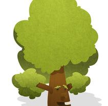 Buscando un árbol. Un proyecto de Ilustración de Iván Álvarez Maldonado - 22.10.2012