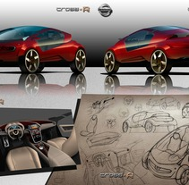 2º Premio Concurso Diseño Autopista - Nissan - U.P.V. 2012 - Nissan Cross-R. . Um projeto de Design e Ilustração de Abel Vañó Seguí - 15-11-2012