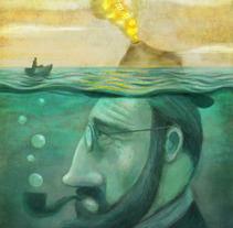 Vocán Literario. A Illustration project by Javier  Monsalvett - 11.20.2012