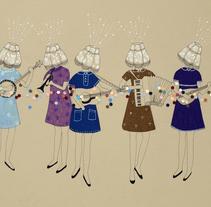 Lamp Ladies. Un proyecto de Ilustración de Estibaliz Hernández de Miguel - 02-12-2012