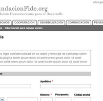 Fundación FIDE. Un proyecto de Diseño y UI / UX de Laura Blanco García         - 07.12.2012