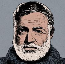 Ernest Hemingway. A Illustration project by Nicolás Castell         - 18.12.2012