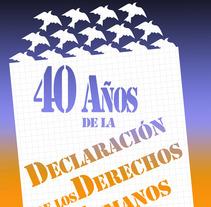 40 Años de la Declaración de los Derechos Humanos. Um projeto de Ilustração de Ignacio Figueredo Zalve         - 29.12.2012