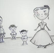 Familia duende en vez de hada madrina.... Um projeto de Ilustração de Elia Amador Godínez         - 13.02.2013