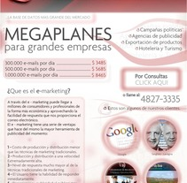 e-marketing. A Design, and Advertising project by Cristian Dominguez Eres - 14-02-2013