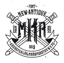 Typography - newAntique. A Design, Illustration, and Advertising project by david sánchez cobos - Mar 07 2013 05:31 PM
